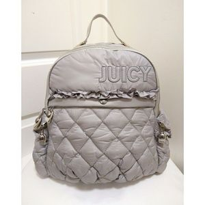 Juicy Couture Quilted Grey Backpack